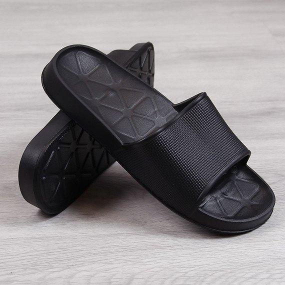 Klapki męskie gumowe basenowe czarne N.E.W.S.