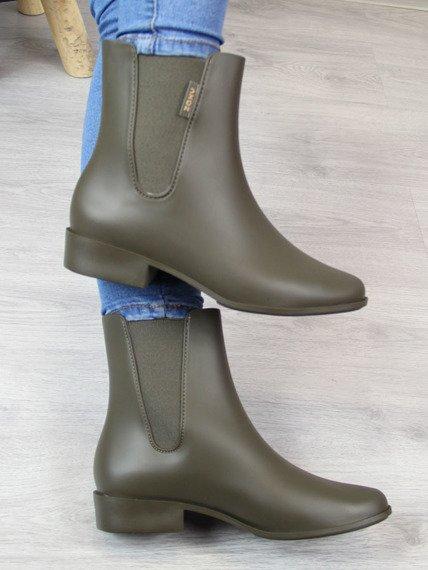 Khaki kalosze damskie sztyblety ZAXY LONDON BOOT II FEM 82267