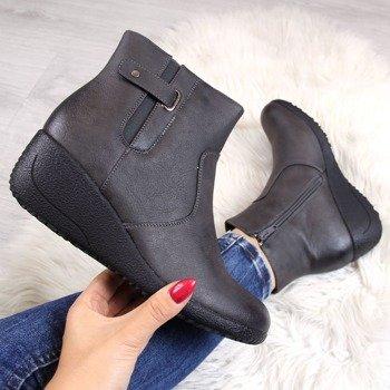 1be62e60fb2fc Botki na koturnie damskie   tanie buty online ButyRaj.pl