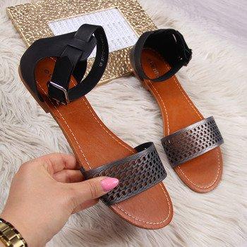 a5a0050a093264 Sandaly z zakrytą piętą - peep toe, na słupku, szpilce, gumowe i ...