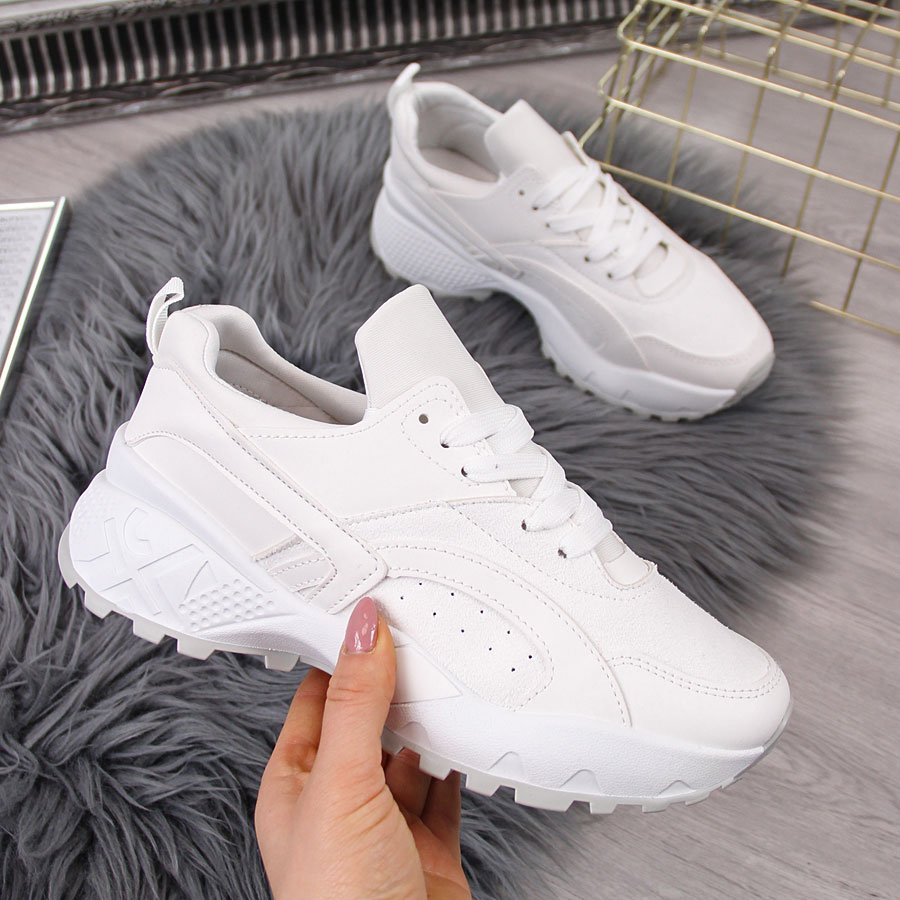 buty białe męskie z wysoką podeszfą