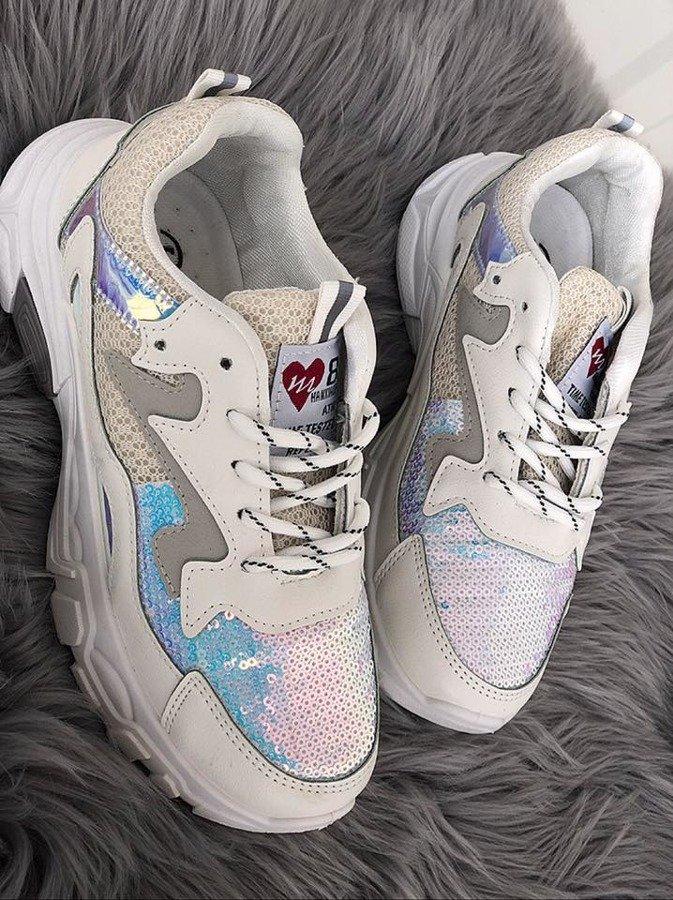 białe buty za kostke damskie lu boo