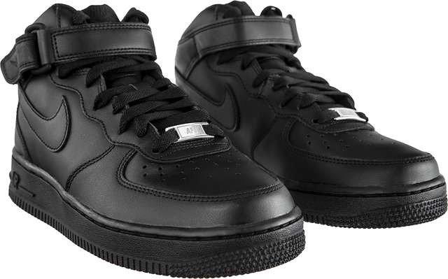 Sneakersy skórzane czarne Nike WMNS Air Force 1 Mid 07 001