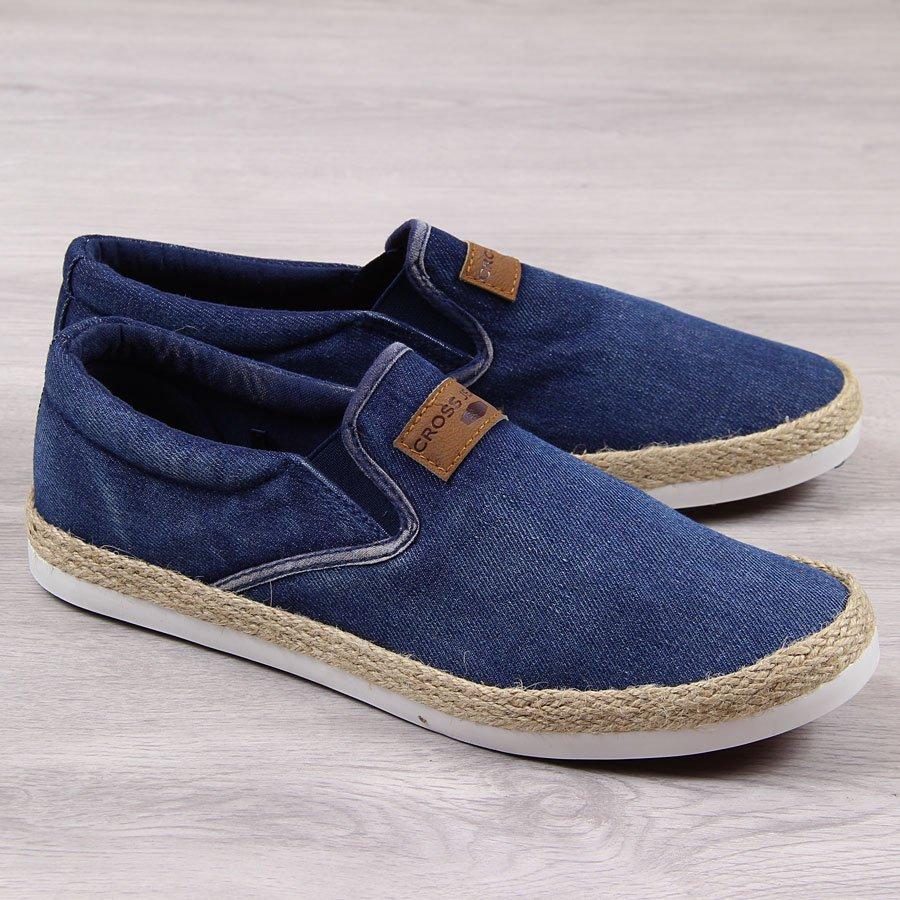 47dd6a33 Trampki espadryle męskie jeansowe Cross Jeans 24119 za - ButyRaj.pl