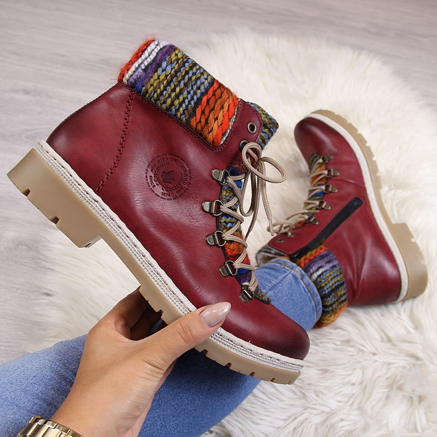 buty rieker damskie na zime ocieplone