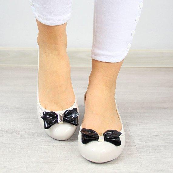 Baleriny gumowe beżowe Zaxy New Pop Beauty