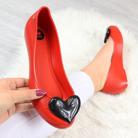 Baleriny gumowe z sercem czerwone Zaxy New Pop Beauty