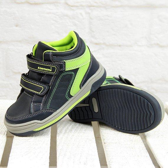 Buty chłopięce na rzepy ocieplane granatowe Hasby