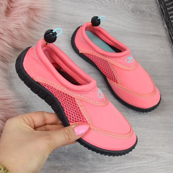 Buty dziecięce do wody na gumkę koralowe Galop