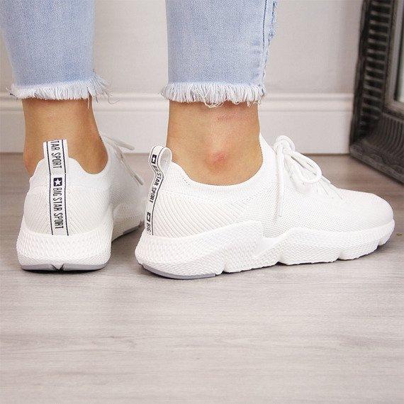 Buty sportowe białe na fitness Big Star DD274575