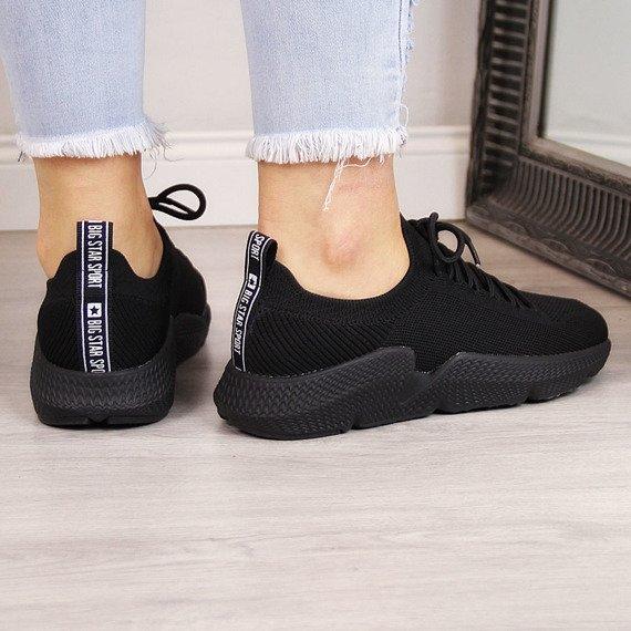 Buty sportowe czarne na fitness Big Star DD274579