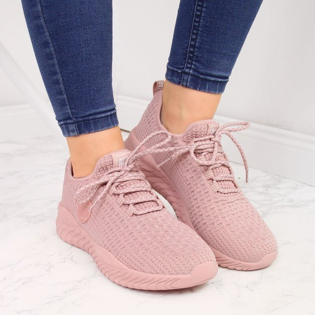 Buty sportowe damskie skarpetkowe róż Big Star HH274299