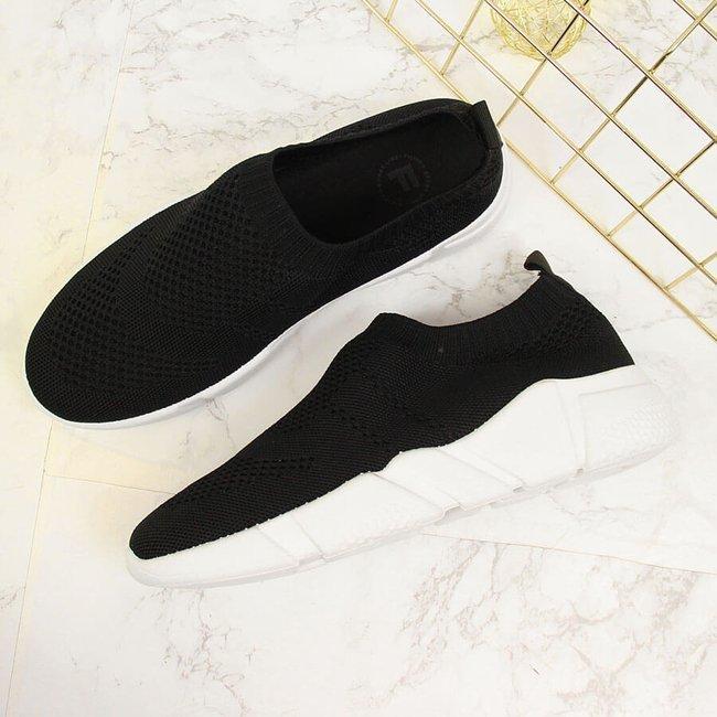Buty sportowe damskie skarpetkowe slip on czarne Filippo