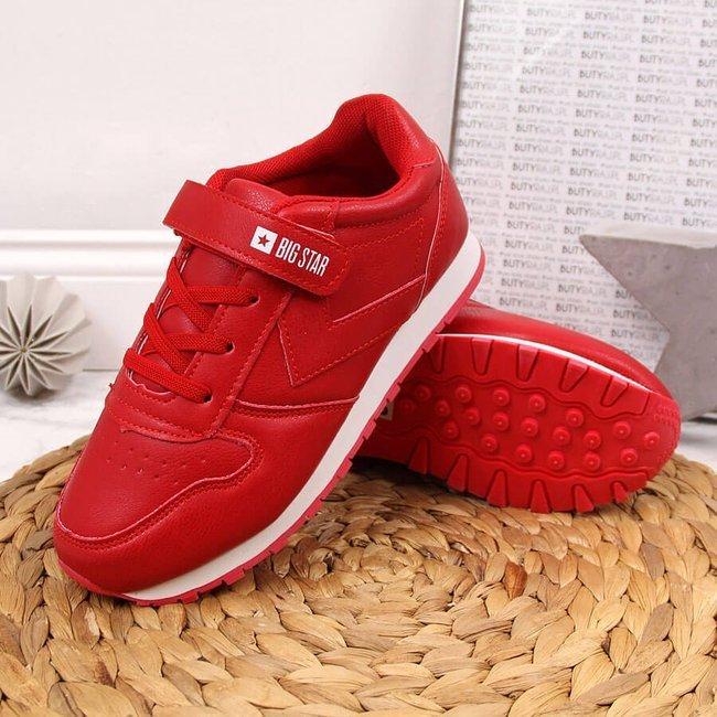 Buty sportowe dziecięce na rzep czerwone Big Star GG374058