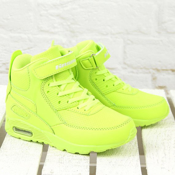 Buty sportowe dziecięce wysokie neonowe  Hasby