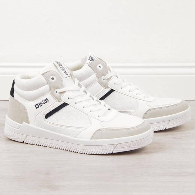 Buty sportowe męskie wysokie białe Big Star II174074