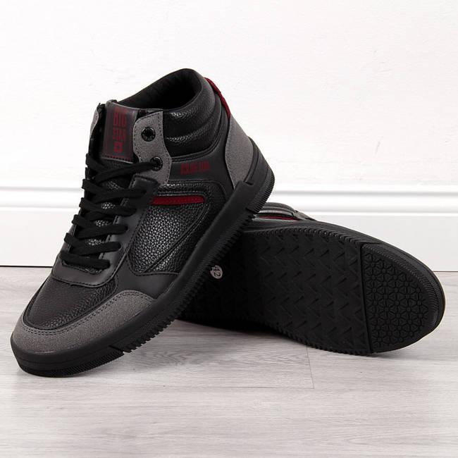 Buty sportowe męskie wysokie czarne Big Star II174076