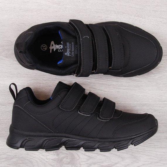 Buty sportowe na rzepy czarne American Club