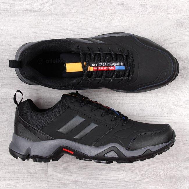 Buty trekkingowe męskie czarne Atletico