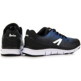 Czarne buty sportowe do biegania ombre American Club