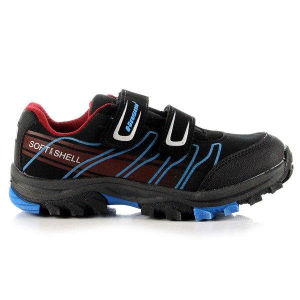 Czarne buty trekkingowe dziecięce wodoodporne Hasby