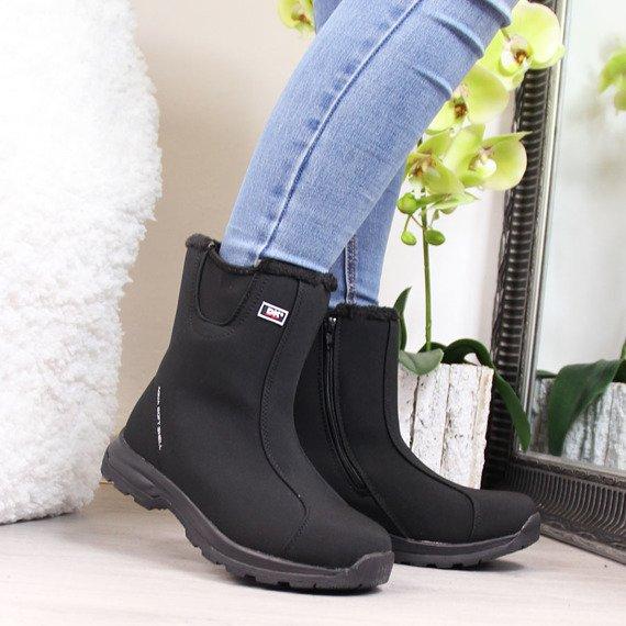 Czarne śniegowce wodoodporne DK Soft Shell