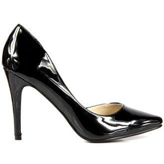 Czarne szpilki lakierowane cut out Street Feet