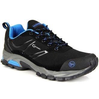 Czarne trekkingowe buty sportowe wodoodporne McKeylor