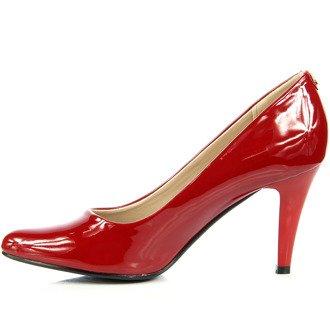 Czerwone czółenka lakierowane Sergio Leone