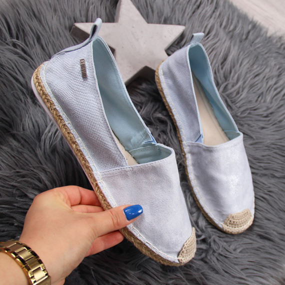 Espadryle damskie tekstylne błękitne Big Star