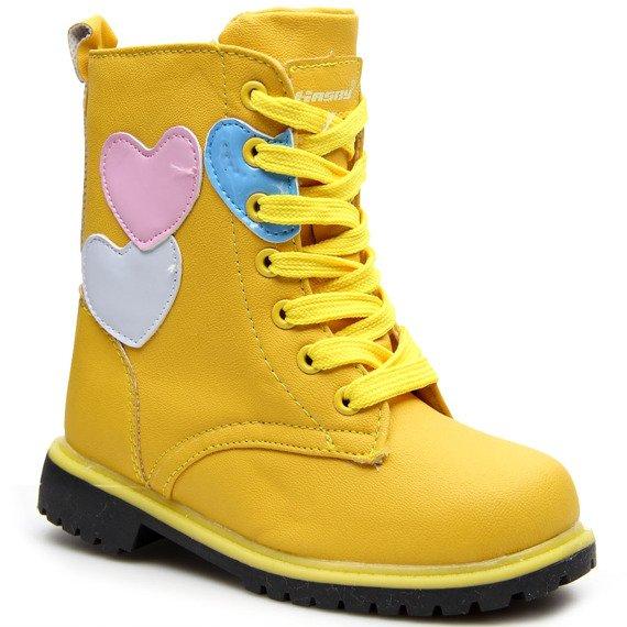 Glany dziewczęce ocieplane żółte Hasby