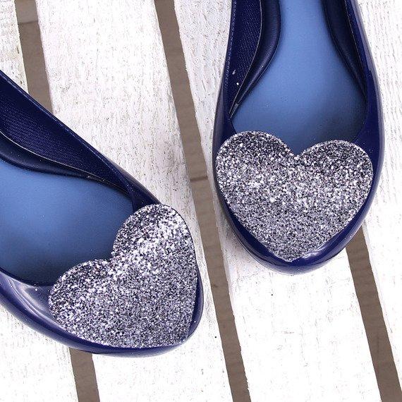 Granatowe baleriny gumowe z sercem ZAXY GLAMOUR FEM 82360