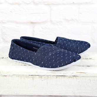 Granatowe tenisówki jeansowe tomsy McArthur