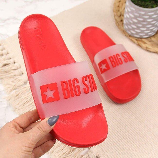 Klapki damskie basenowe czerwone Big Star FF274A202