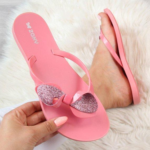 Klapki damskie japonki gumowe różowe ZAXY Fresh Trip