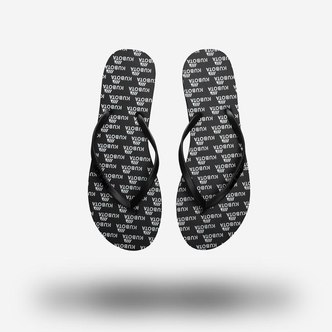 Klapki gumowe japonki czarne Kubota