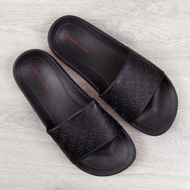 Klapki męskie basenowe czarne Cross Jeans FF1R4086C