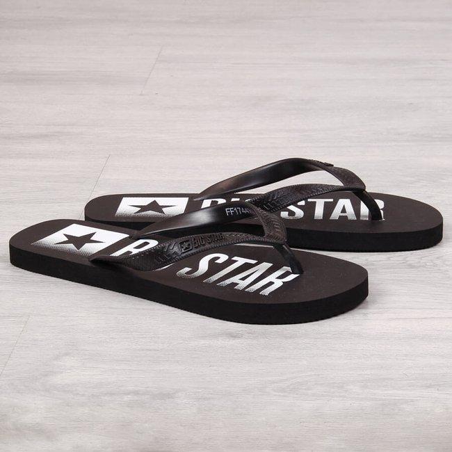 Klapki męskie japonki plażowe czarne Big Star FF174470