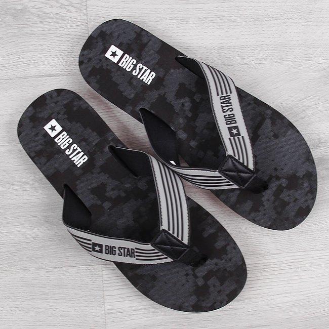 Klapki męskie plażowe japonki czarne Big Star HH174814
