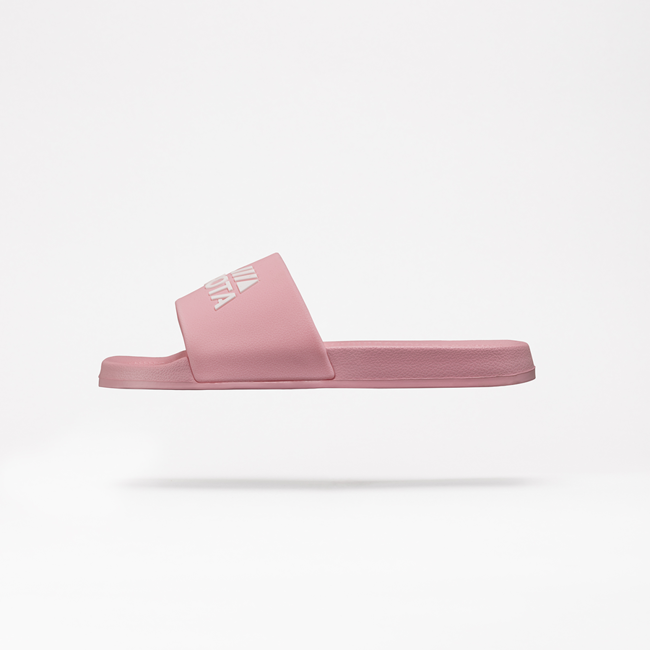 Klapki plażowe basenowe basic różowe Kubota