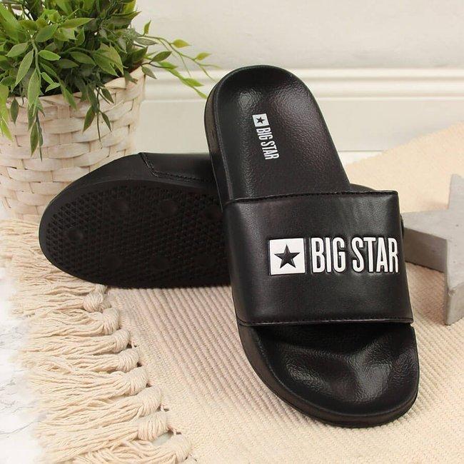 Klapki plażowe basenowe czarne Big Star GG274A040