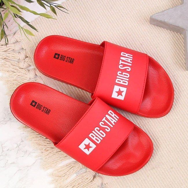 Klapki plażowe basenowe czerwone Big Star GG274A041