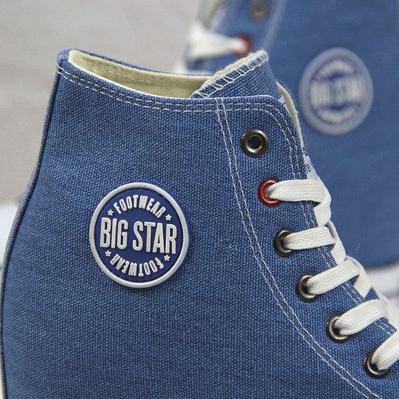 Niebieskie trampki damskie na koturnie Big Star U274901