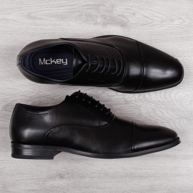 Półbuty męskie wizytowe czarne McKey