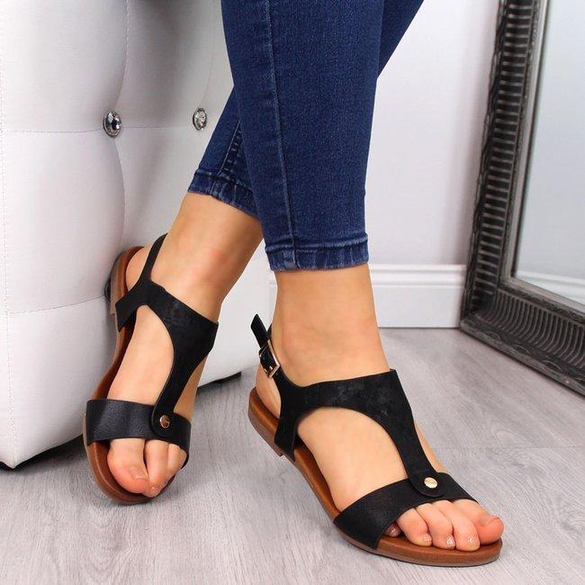Sandały damskie czarne S.Barski