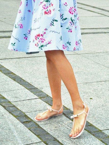 Sandały damskie japonki z kokardką różowe Lu Boo