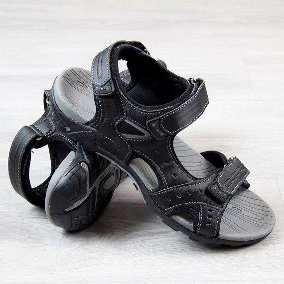 Sandały męskie na rzepy czarne American Club