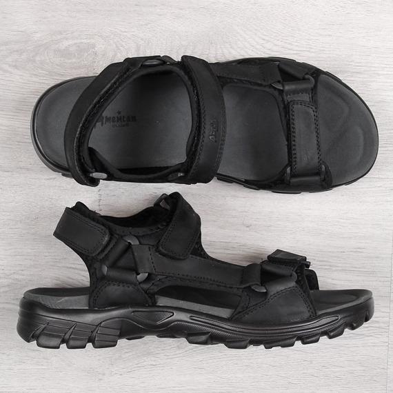 Sandały męskie skórzane czarne American Club