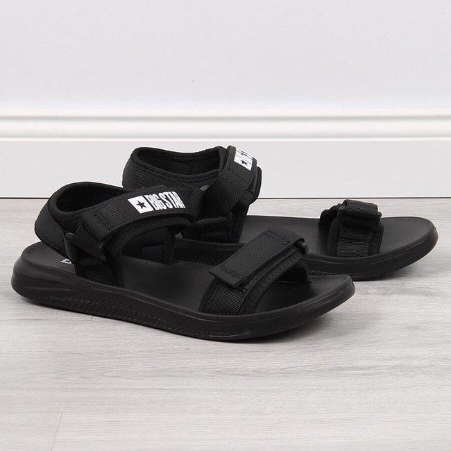 Sandały sportowe na rzepy czarne Big Star HH274A024