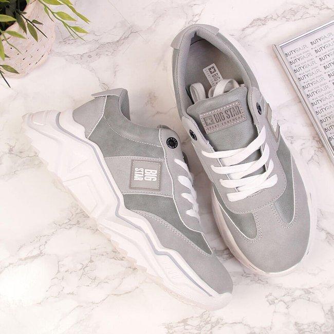 Sneakersy damskie na platformie szare Big Star GG274211